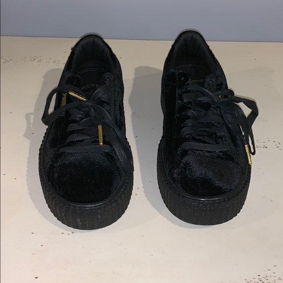 best website 8f282 09d9a Black Puma Creeper Velvet Rihanna Fenty